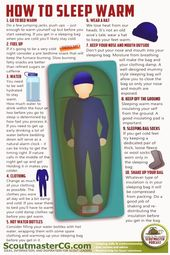 How to Sleep Warm  this is a great guide to make nights cozy instead of chill
