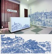 Illustrator Workspace Cyprus based illustrator Abi Daker created this gorgeously detailed wall mural f...