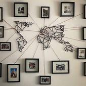 Besten Ideen Weltkarte Wand Kunstwerk – Mobelde.com – DIY Basteln & Selbermachen