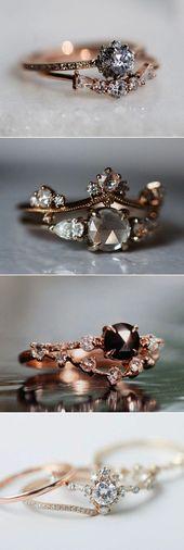1ctw VS Morganite ring set rose gold floral diamond wedding band promise ring anniversary ring full eternity diamond band bridal ring set – Fine Jewelry Ideas