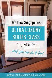 Fliegen Sie mit den Singapore Airlines First Class Suites günstiger