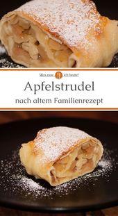 Apfelstrudel nach österreichischer Art