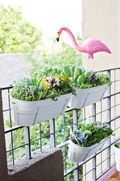 20+ DIY Railing Planter Ideas for Balcony Gardener – Wood Home, #Balcony #DIY # for # Gardener …