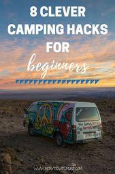 8 camps de camping intelligents pour débutants – #Beginners #Camping #Clever #Hacks   – camping checklist