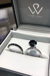 24 Unique Black Diamond Engagement Rings ❤ Black diamond engagement rings. Are…