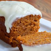 Pumpkin Loaf with Cream Cheese Icing Yummy | Best Recipe in The World