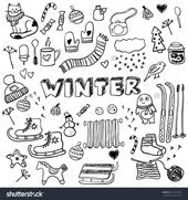 Winter kritzelt Sammlung. Stilvolle Designelemente… – #Designelemente #kritzelt #Sammlung #socksdesign #stilvoll
