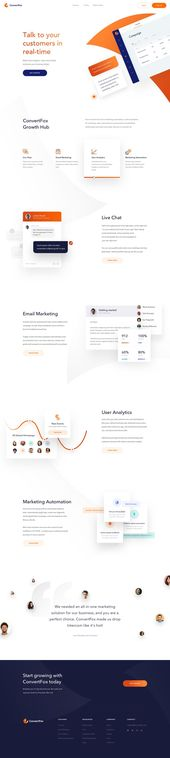 ConvertFox – Homepage – Inspire Design | #ui #ux #userexperience #website #web…