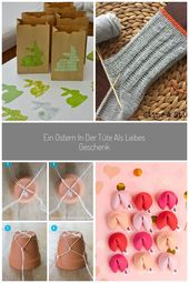 ♥ Zuckersüße Äpfel ♥: Ostern in der Tüte…(DIY) easter bag easy diy #re…