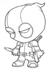 Deadpool einfach ausmalbilder