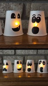 Paper cup ghost craft for kids – Kita Ideen 218 – #Craft #cup #Ghost #Ideen #Kid…