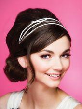 braut + kopfbedeckungen + für + kurze + haare | ... Hochsteckfrisur | Brautband Stirnbänder Galerie | Womens Braut Kopfschmuck