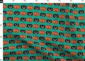 Süßes sonst gibt's Saures – Leckereimer auf Knickente von Heidikenney – Vintage Halloween Cat Pumpkin Kids Co