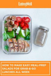How to Make Easy Meal-Prep Salads for Grab-&-Go Lunches All Week – Lunch