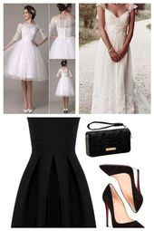 Bröllopsklänning spets kort midja strass bröllopsklänningskontor Milanoo #fas …