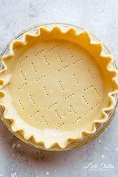 Buttery Pie Crust ohne Verkürzung! Das perfekte Gebäck, das in Ihrem … – Keto Desserts