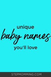 1000+ Boy and Girl Baby Names You'll Actually Want to Use – Simple Mom Group Board