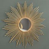 Spiegel aus Metall, golden, D.99