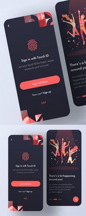 25 Diseño moderno de interfaz de usuario de aplicación móvil con Amazing UX   – UI/UX Design