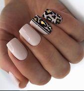 56 schöne natürliche quadratische Nägel Design für kurze Nägel – Seite 9 von 19 – Mode …   – Dr. Elmira Crona DDS