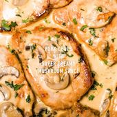 Keto Pork Chops with Super Creamy Mushroom Sauce – Low Carb Spark
