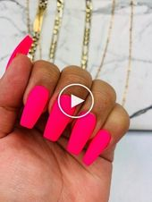 Pink Neon Press on Nails | Rosa Nägel | Neonnägel | Urlaubsnägel | Sommer Nai…
