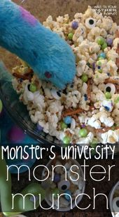 Monster's College household viewing occasion with Monster Munch snack by way of www.waitt…