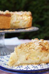 Apple sour cream streusel cake   – Äpfel und Birnen – Rezepte