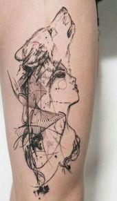 Tattoo wolf woman art 66 Ideas