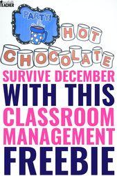 December Classroom Management Freebie to Help You Make it to Winter Break  – School stuff