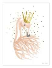 Children's room poster flamingo with crown 'gold / powder pink 30x40cm – Adelisa – wallpapers designs