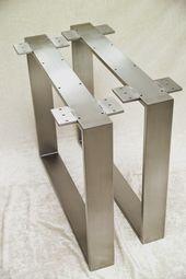 Stahl Tischkufen – Edelstahl-Metallbau Stelzer