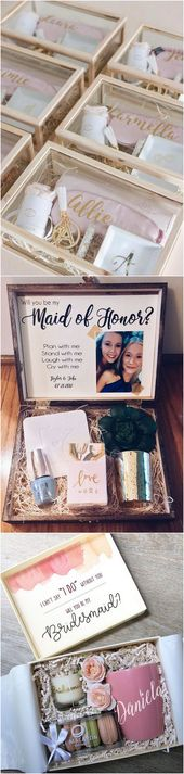 "18 Bridesmaid Proposal Present Concepts to Ask ""Will You Be My Bridesmaid?"""