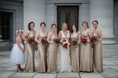 Gold Sequin bridesmaid dresses Madison, Wisconsin | Dana Osborne Design – Wedding Photography Ideas