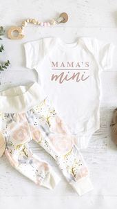 Mamas Mini-Strampler & Tee – #amp #baby #babyclothes #babylove #mamas