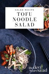 Gochujang Chicken Salad with Noodles and Tofu. For this salad recipe, we want a …