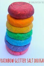 Rainbow Glitter Salt Dough – The Imagination Tree