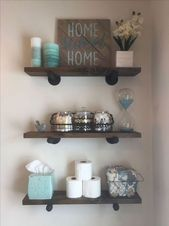 Cute DIY Rustic Bathroom Shelf Ideas