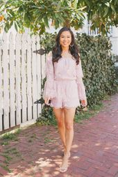 6686ccf29d09 Lilly Pulitzer Donna Romper with Cult Gaia bamboo bag and Kendra Scott  earrings on blogger Hoang-Kim