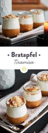 Winterliches Bratapfel-Tiramisu im Glas