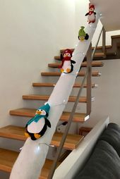 Easy and Fun Christmas Decorations Kids Will Love – Sliding Penguin Staircases