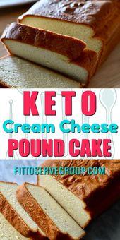 Keto-Pfund-Kuchen. Scrollen Sie (viel), um das Rezept zu finden.