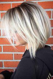Wenn Sie sich vollständig in das Konzept der Balayage-Haarfarbe verliebt haben, b …   – gray hair cut