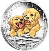 Puppies Golden Retriever 1 2oz Silver Proof Coin Tuvalu 2018 Golden Retriever Labrador Puppy Labrador Dog