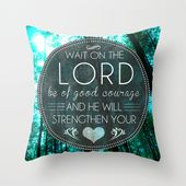 Strength Courage Hope Throw Pillow