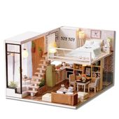 """Dollhouse, Miniature house """"Waiting for the time"""", Dollhouse miniature kit, small dollhouse, dollhouse kit wooden, cute room, Gift for kids"""