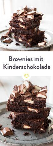 Wenn Milch auf Schokolade trifft … Brownies mit Kinderriegeln – Rezepte