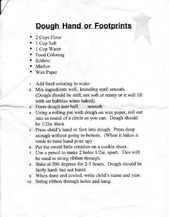 SALT DOUGH RECIPE FOR HAND & FOOT PRINTS – #Dough …