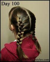 Girly Frisuren machen: Von Jenn: 100 Tage Schulfrisuren