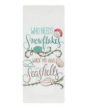 """""""Snowflakes & Seashells"""" Flour Sack Towel"""